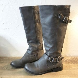 G by Guess Buckle Riding Boots